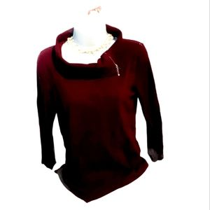San Francisco cowl neck with zipper  woman sweater